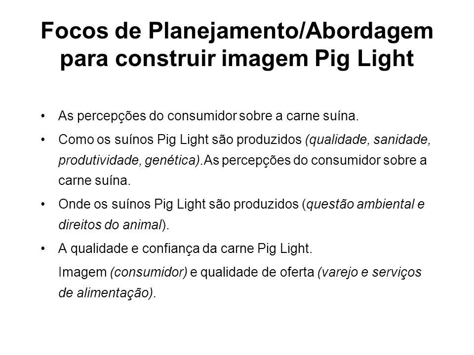 Focos de Planejamento/Abordagem para construir imagem Pig Light
