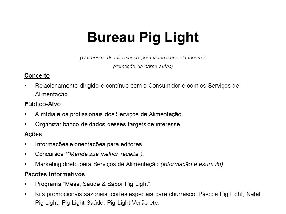 Bureau Pig Light Conceito