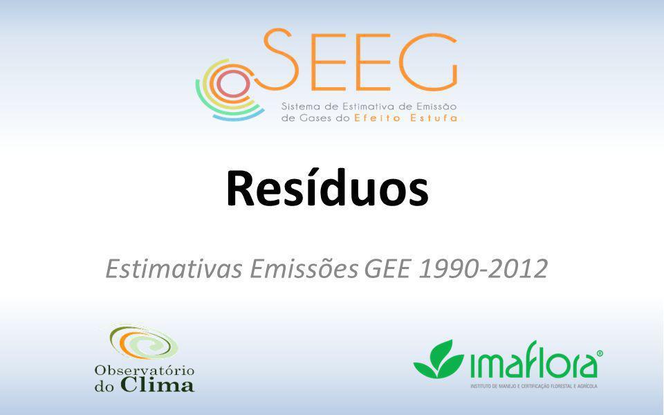 Estimativas Emissões GEE 1990-2012