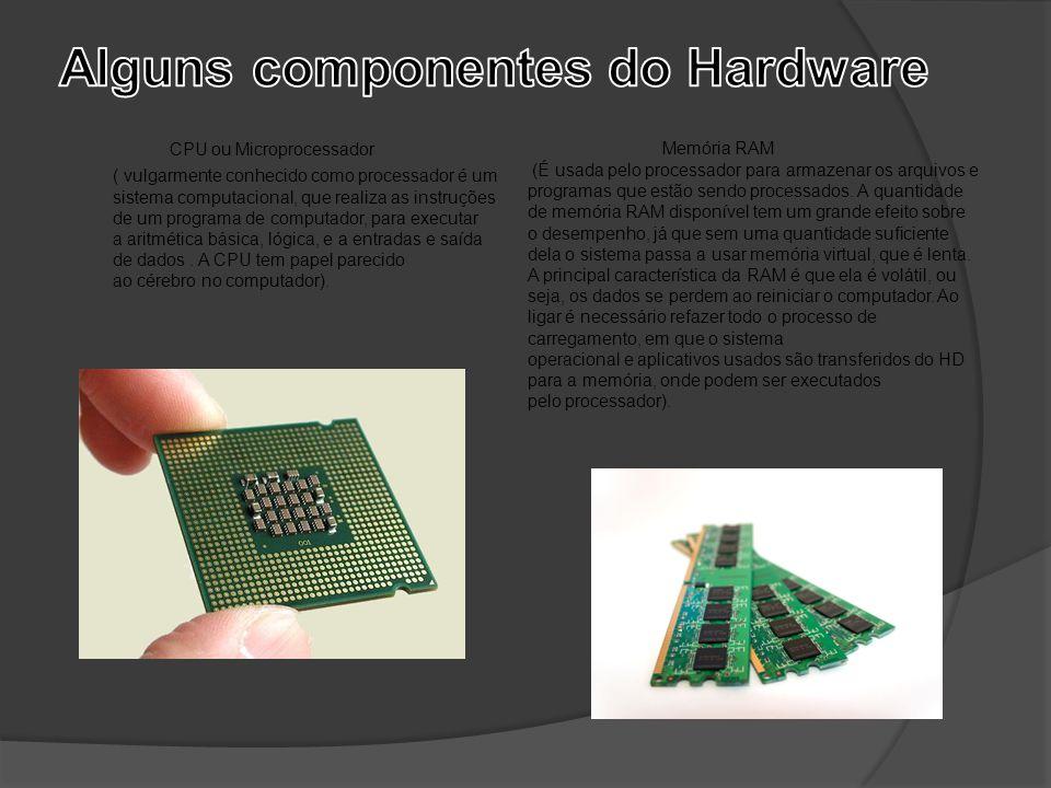 Alguns componentes do Hardware