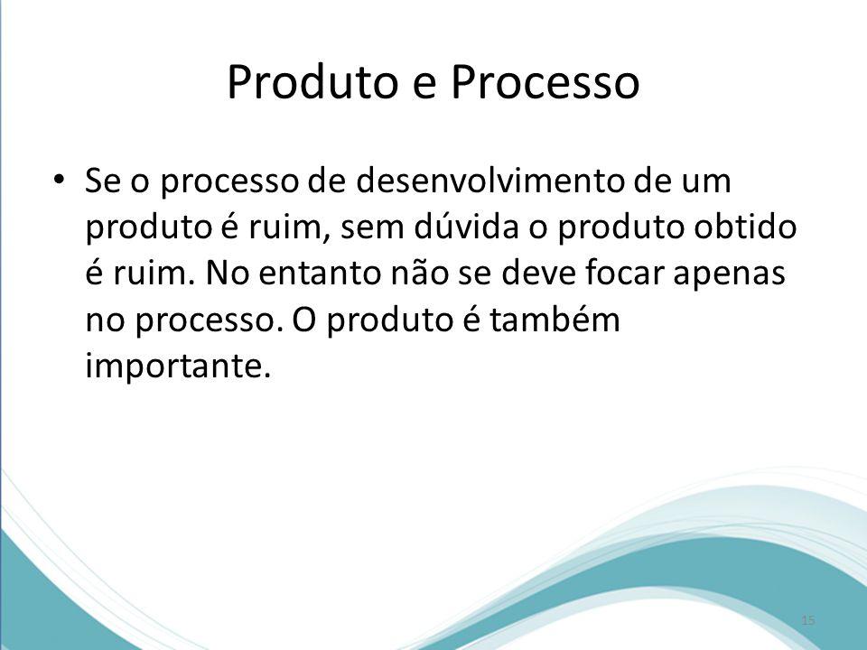 Produto e Processo