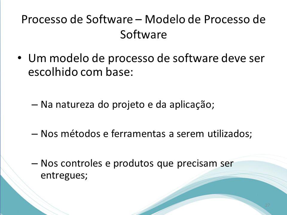Processo de Software – Modelo de Processo de Software