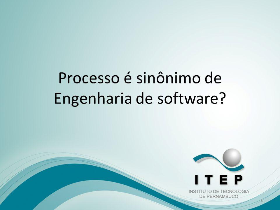 Processo é sinônimo de Engenharia de software