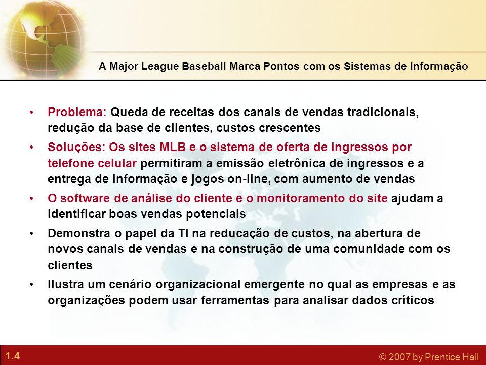 A Major League Baseball Marca Pontos com os Sistemas de Informação