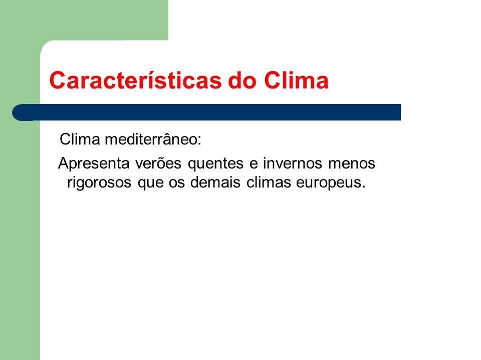 Características do Clima