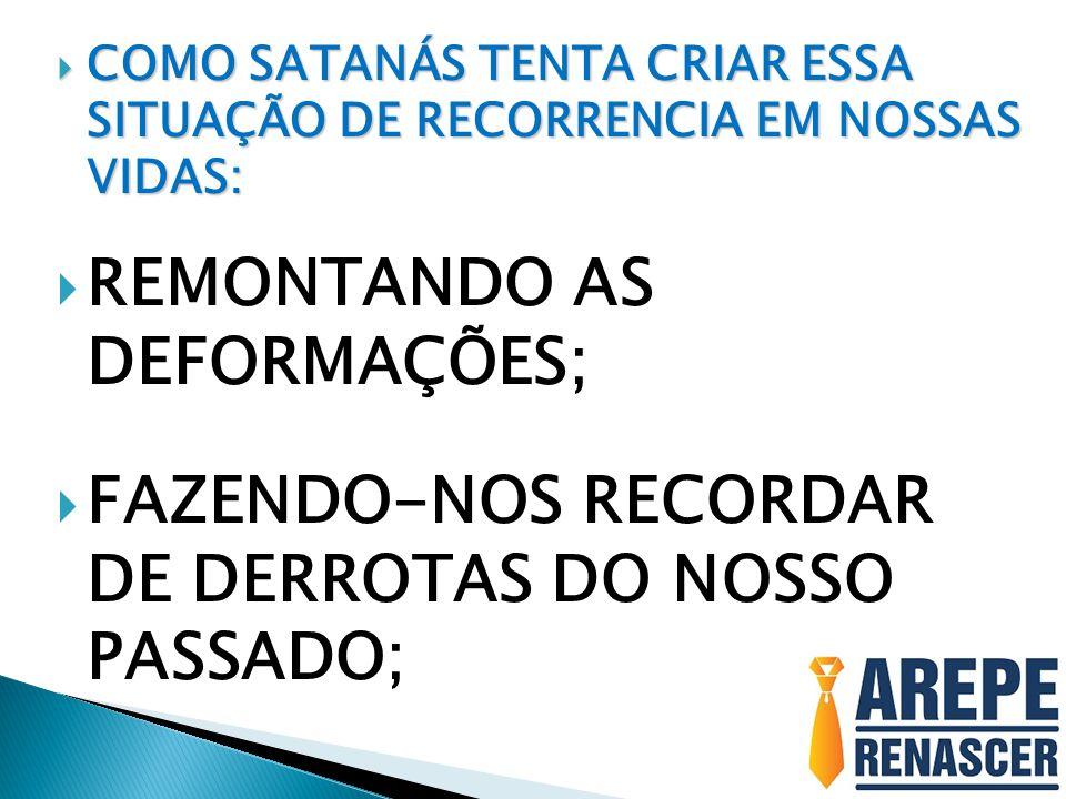 REMONTANDO AS DEFORMAÇÕES;