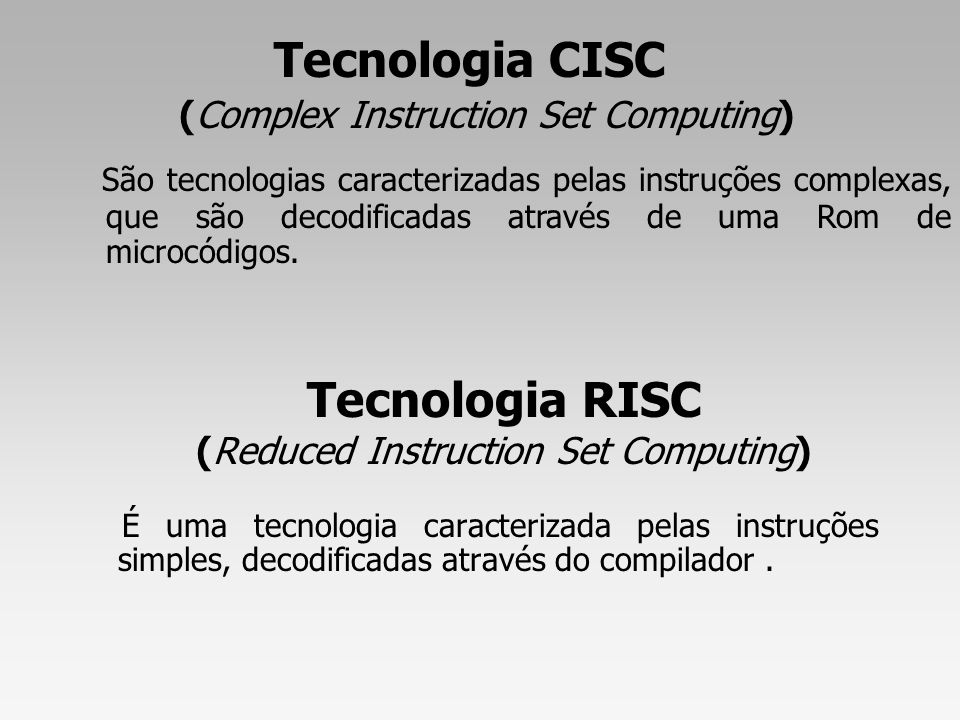 Tecnologia RISC (Reduced Instruction Set Computing)