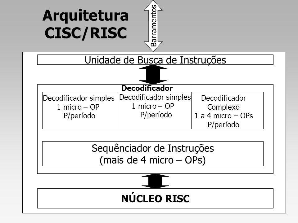 Arquitetura CISC/RISC