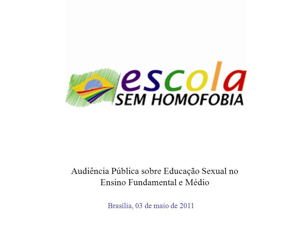 Audiência Pública sobre Educação Sexual no Ensino Fundamental e Médio