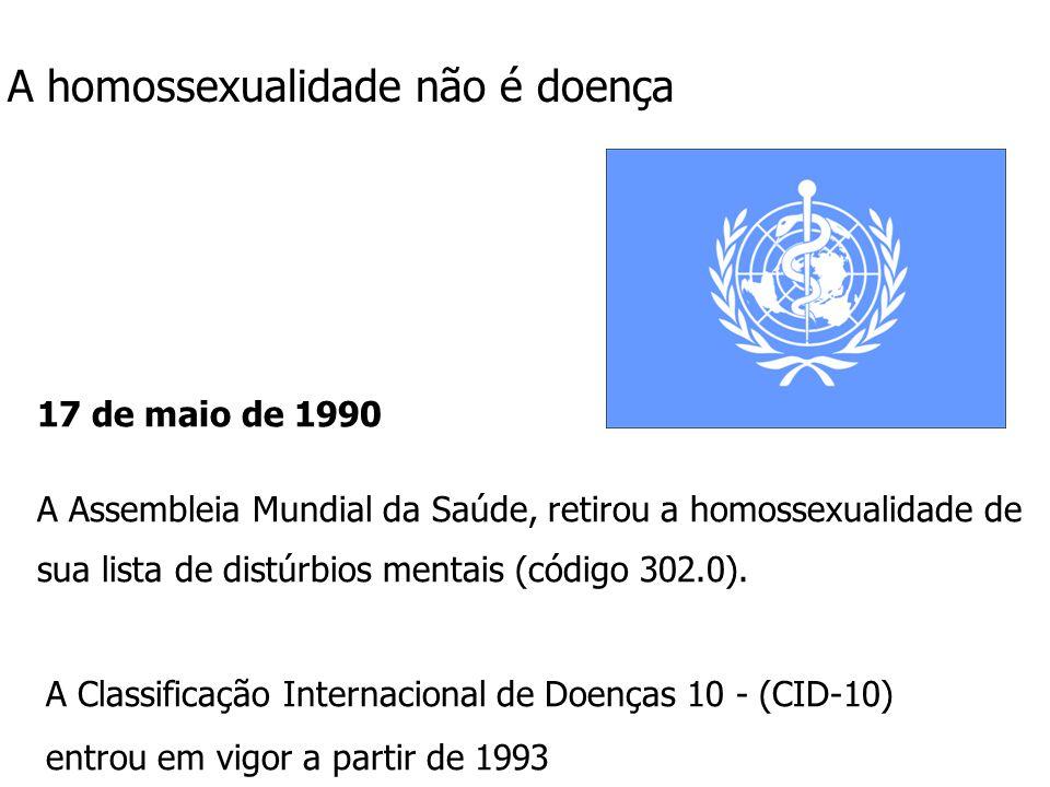 A homossexualidade não é doença