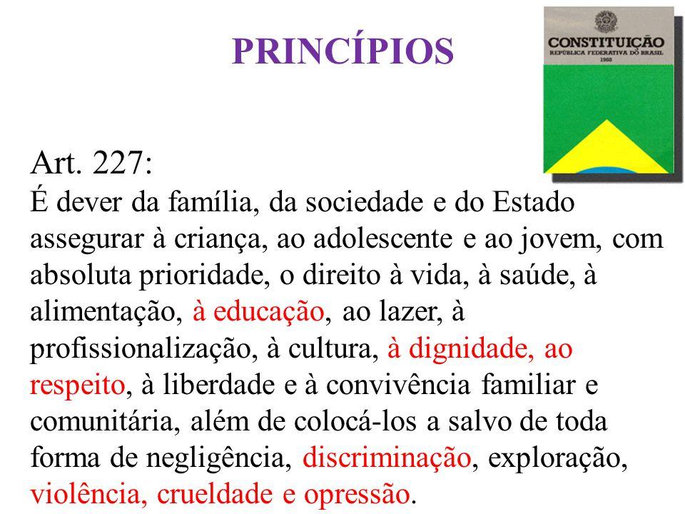 PRINCÍPIOS Art. 227: