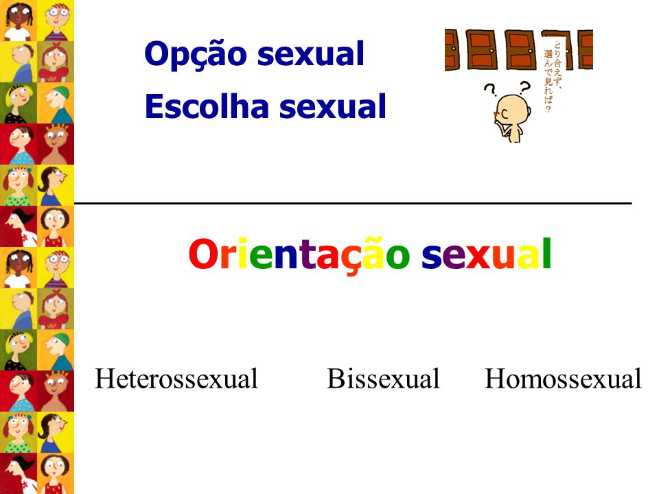 Orientação sexual Opção sexual Escolha sexual