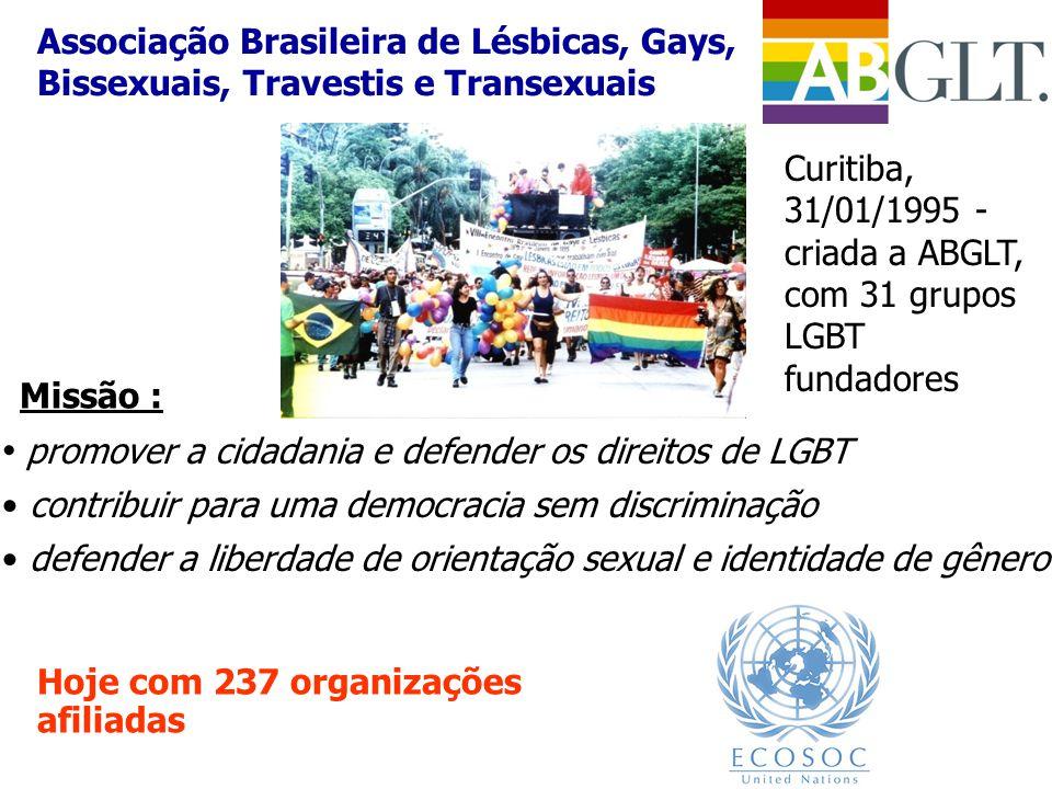 promover a cidadania e defender os direitos de LGBT