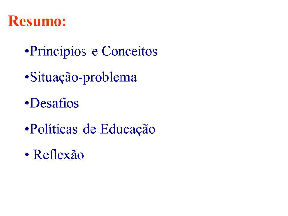 Resumo: Princípios e Conceitos Situação-problema Desafios