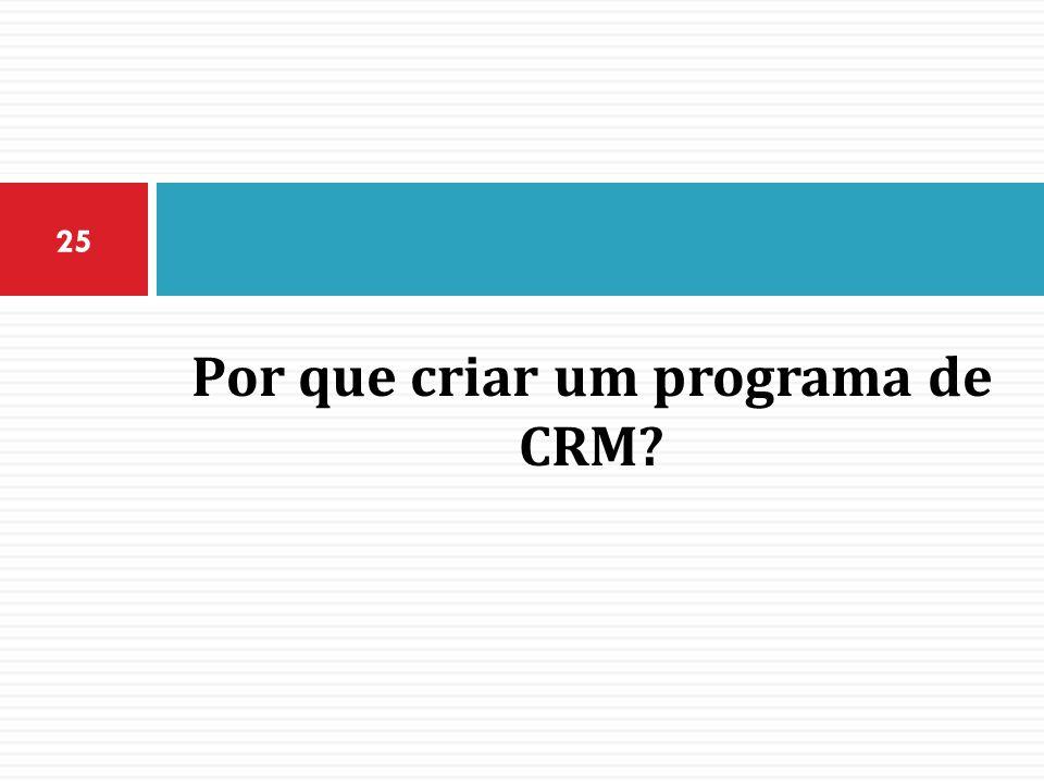 Por que criar um programa de CRM