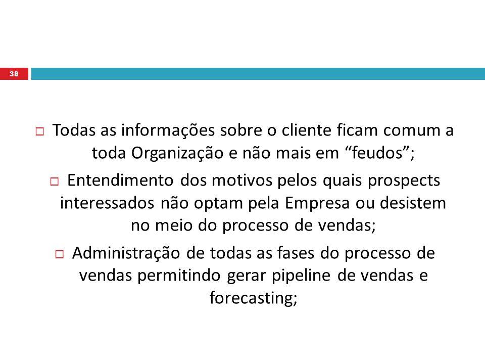 Todas as informações sobre o cliente ficam comum a toda Organização e não mais em feudos ;