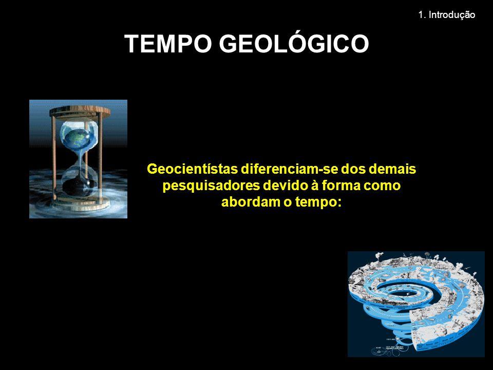 1. Introdução TEMPO GEOLÓGICO.