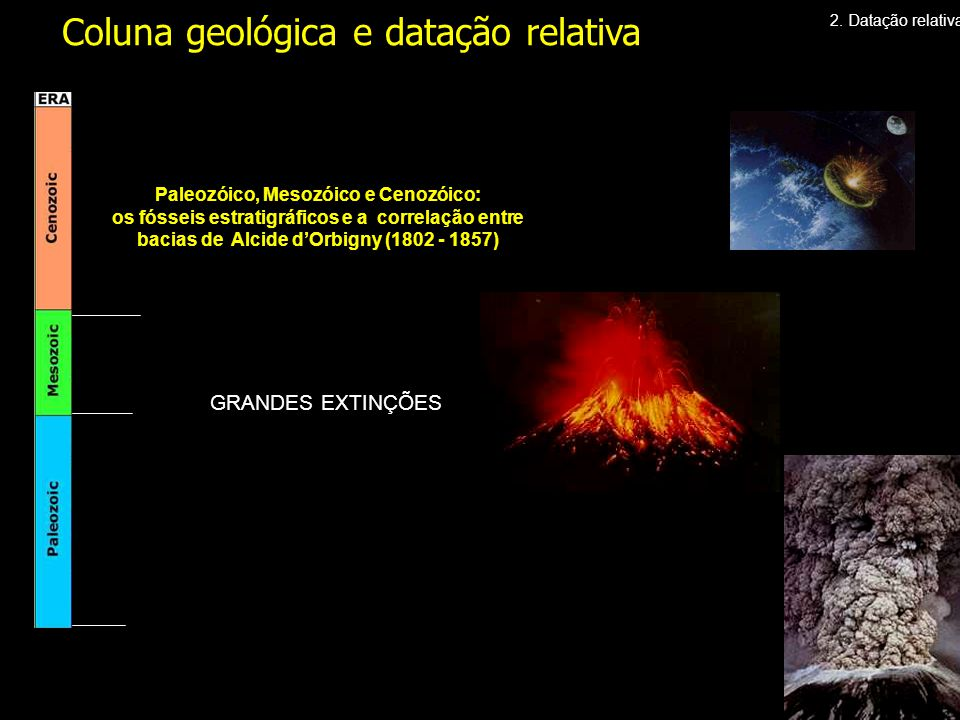 Paleozóico, Mesozóico e Cenozóico: