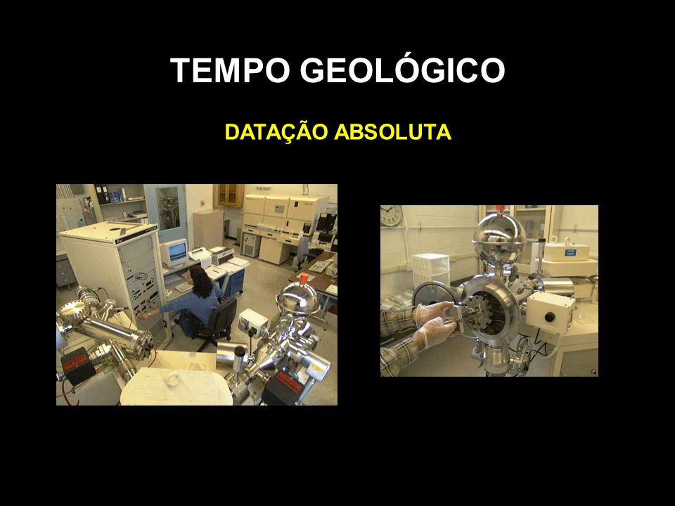 TEMPO GEOLÓGICO DATAÇÃO ABSOLUTA
