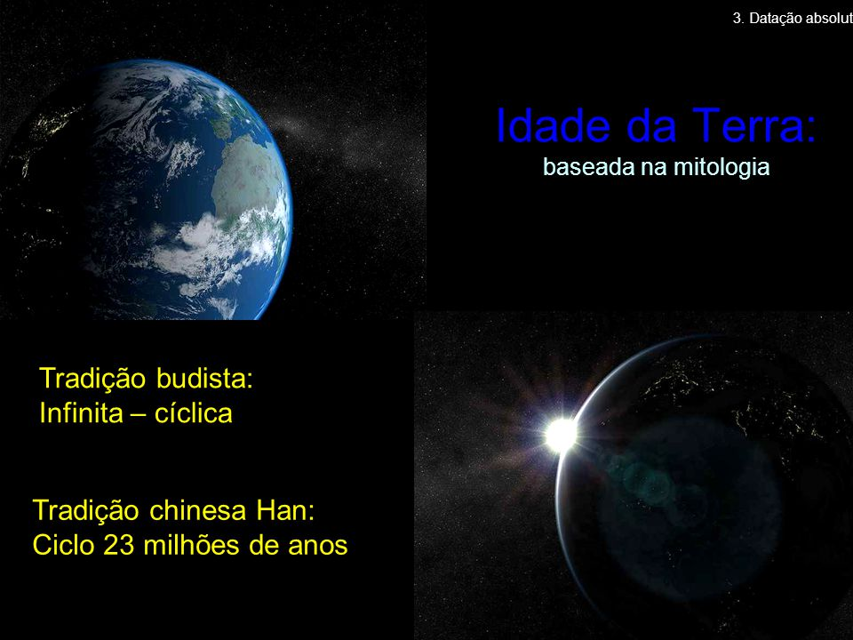 Idade da Terra: baseada na mitologia