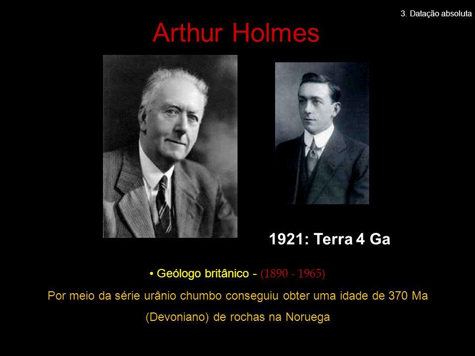 Arthur Holmes 1921: Terra 4 Ga Geólogo britânico - (1890 - 1965)