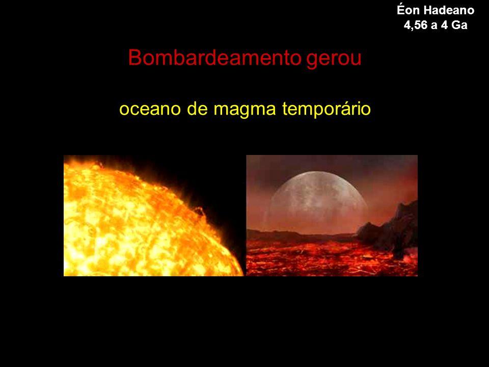 Bombardeamento gerou oceano de magma temporário