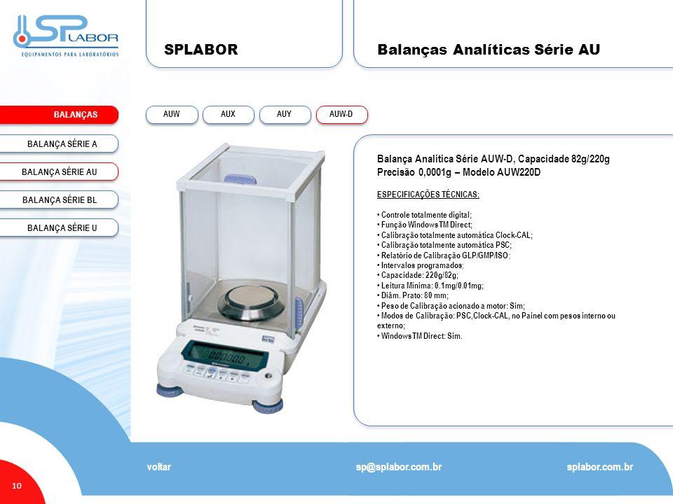 Balanças Analíticas Série AU