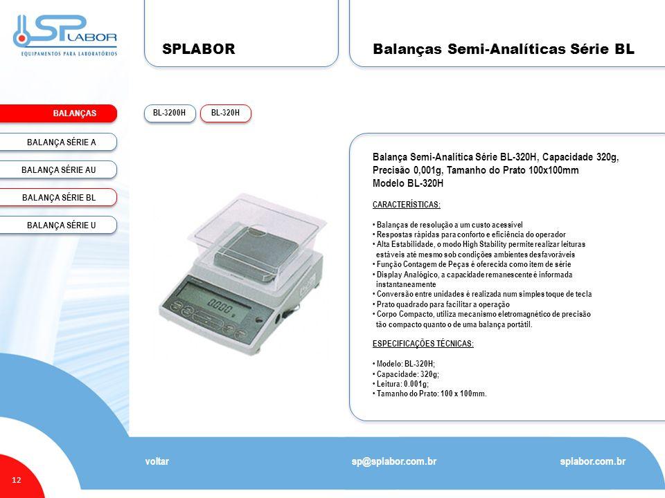 Balanças Semi-Analíticas Série BL