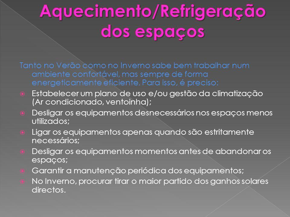 Aquecimento/Refrigeração dos espaços