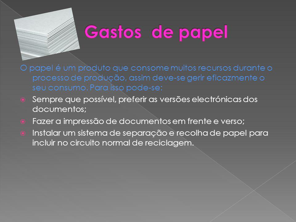 Gastos de papel