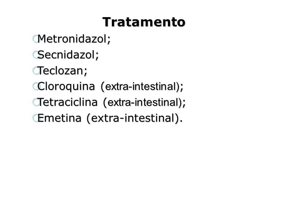 Tratamento Metronidazol; Secnidazol; Teclozan;