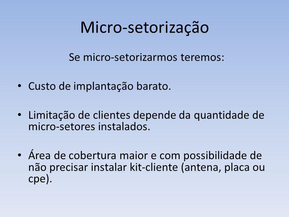 Se micro-setorizarmos teremos: