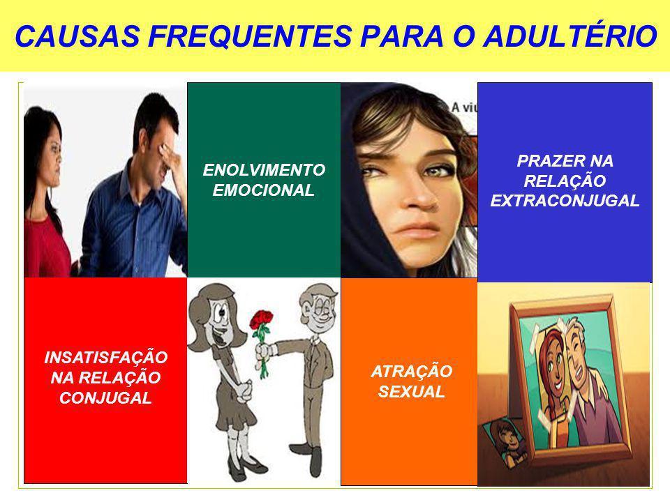 CAUSAS FREQUENTES PARA O ADULTÉRIO