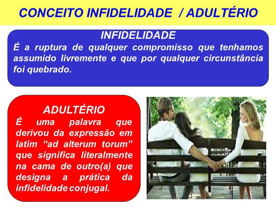 CONCEITO INFIDELIDADE / ADULTÉRIO