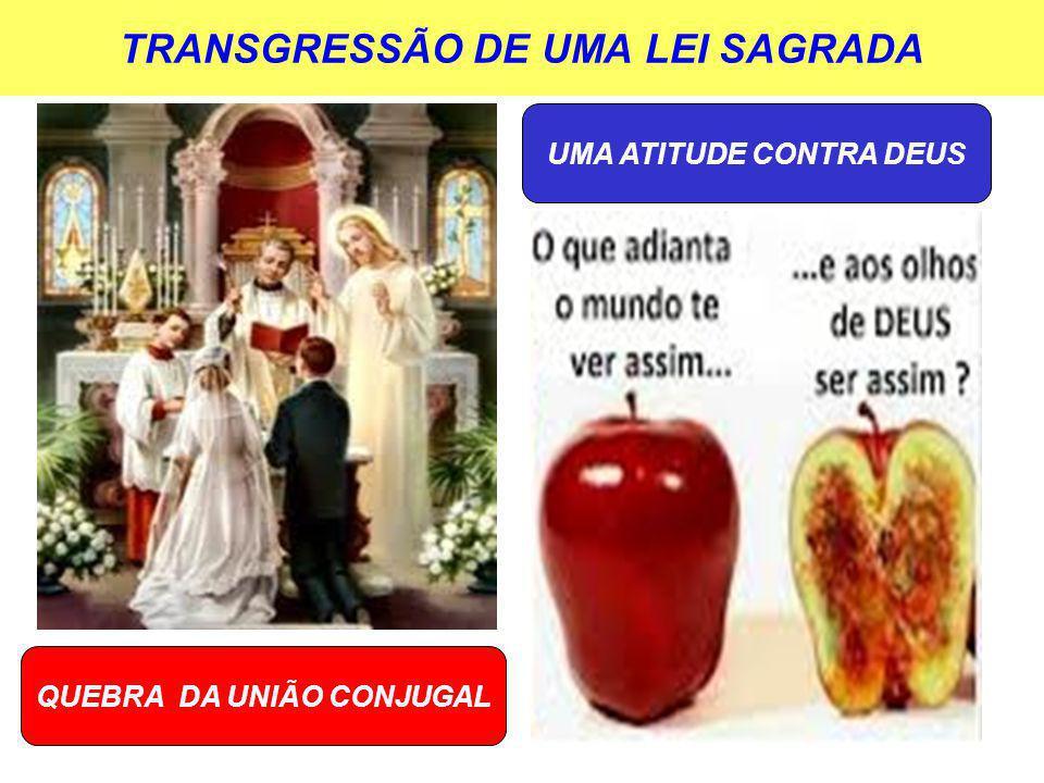 TRANSGRESSÃO DE UMA LEI SAGRADA