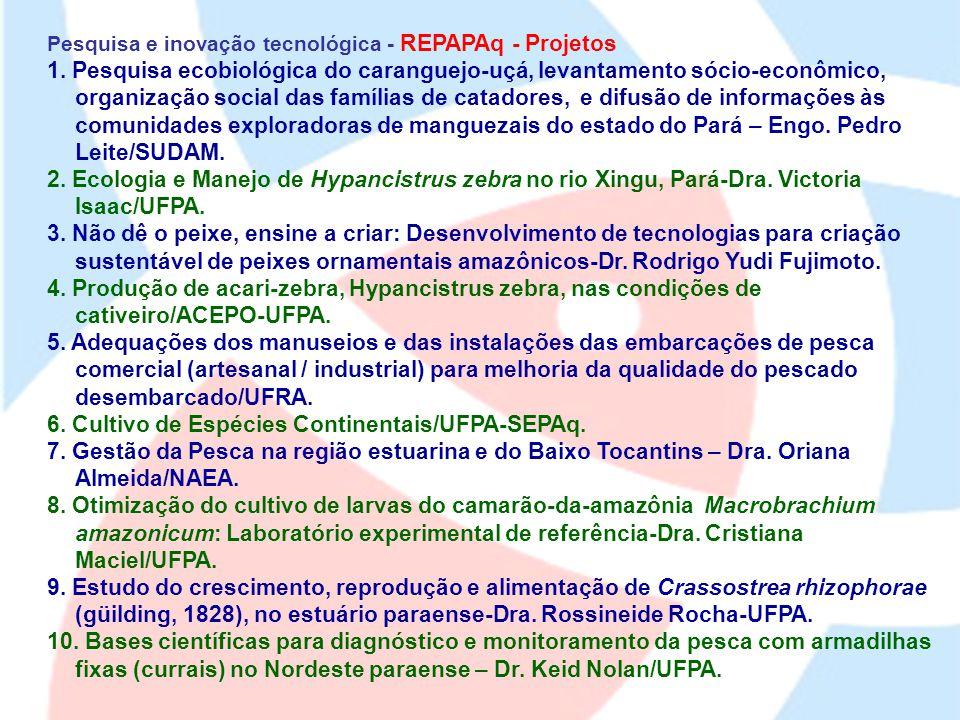 6. Cultivo de Espécies Continentais/UFPA-SEPAq.