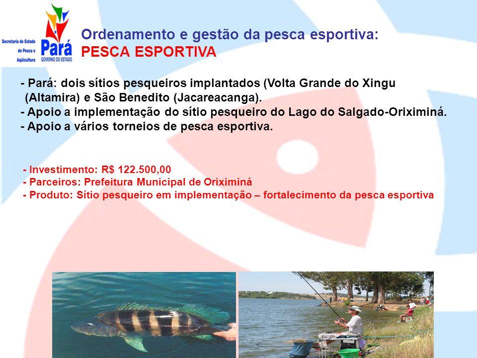 Ordenamento e gestão da pesca esportiva: PESCA ESPORTIVA
