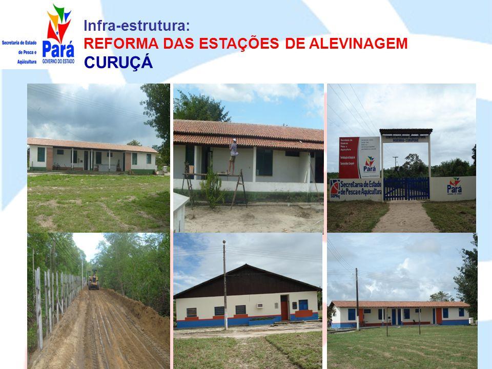 Infra-estrutura: REFORMA DAS ESTAÇÕES DE ALEVINAGEM CURUÇÁ