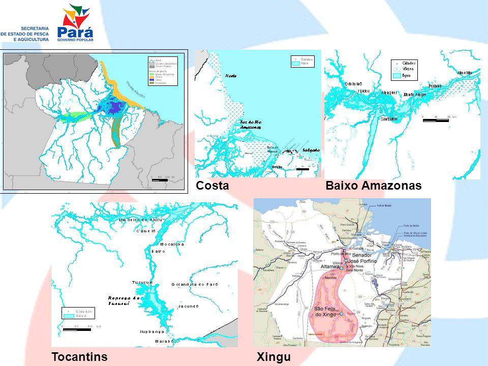 Costa Baixo Amazonas Tocantins Xingu