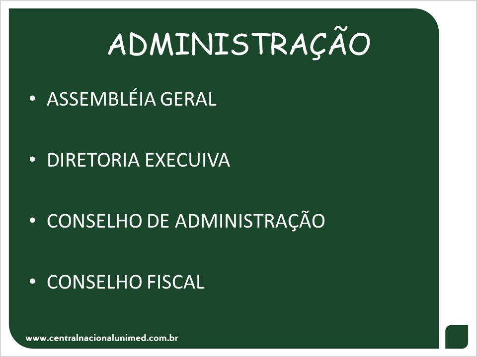 ADMINISTRAÇÃO ASSEMBLÉIA GERAL DIRETORIA EXECUIVA