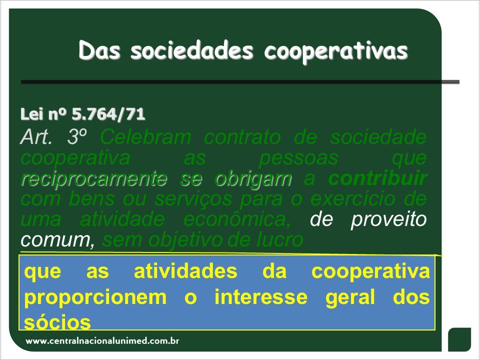 Das sociedades cooperativas