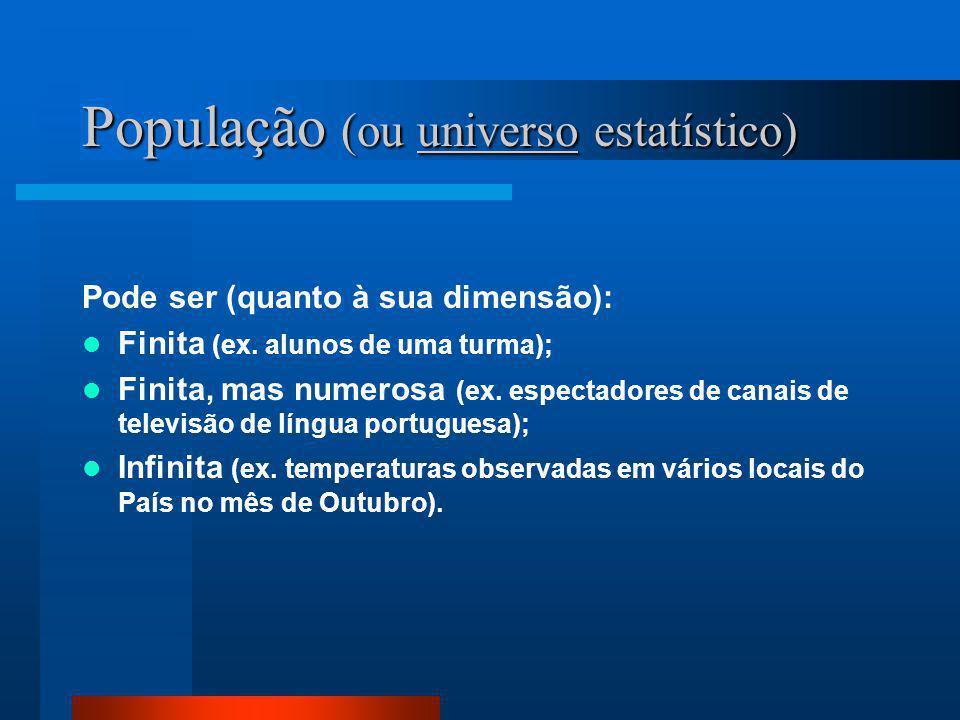População (ou universo estatístico)