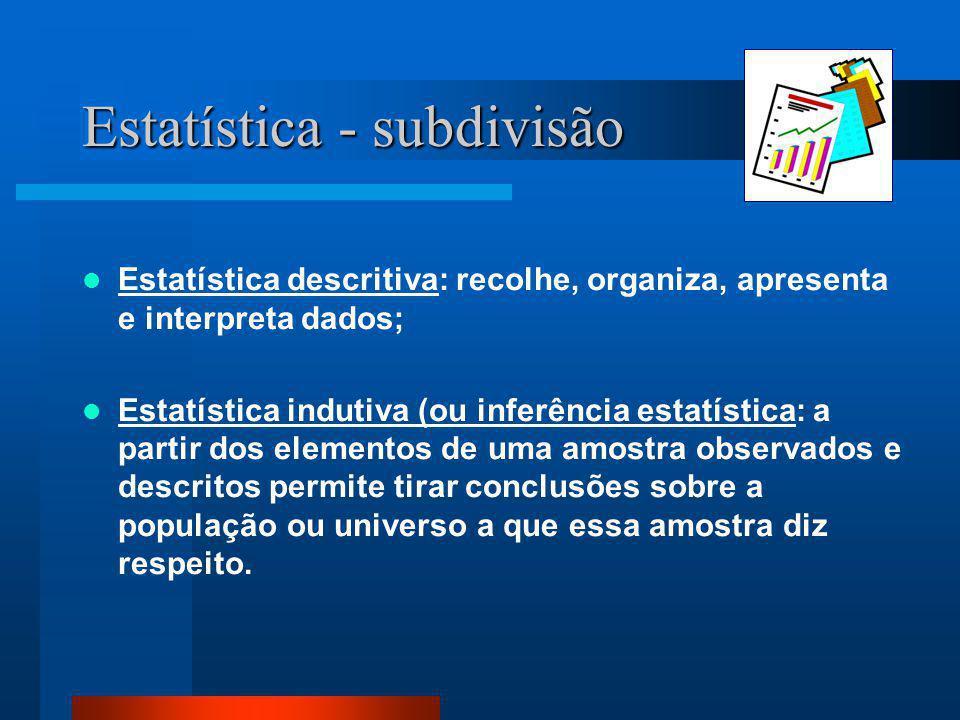 Estatística - subdivisão