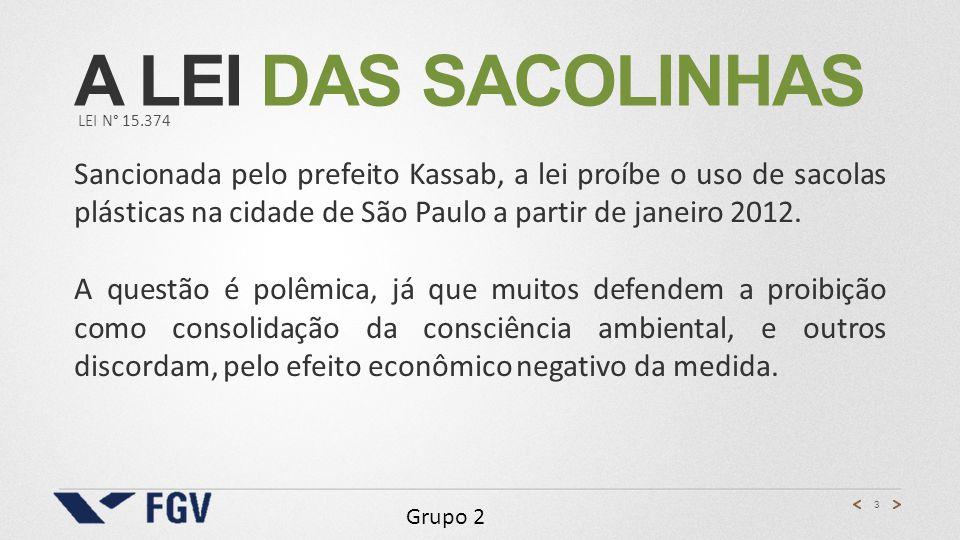 A lei das sacolinhas LEI n° 15.374.
