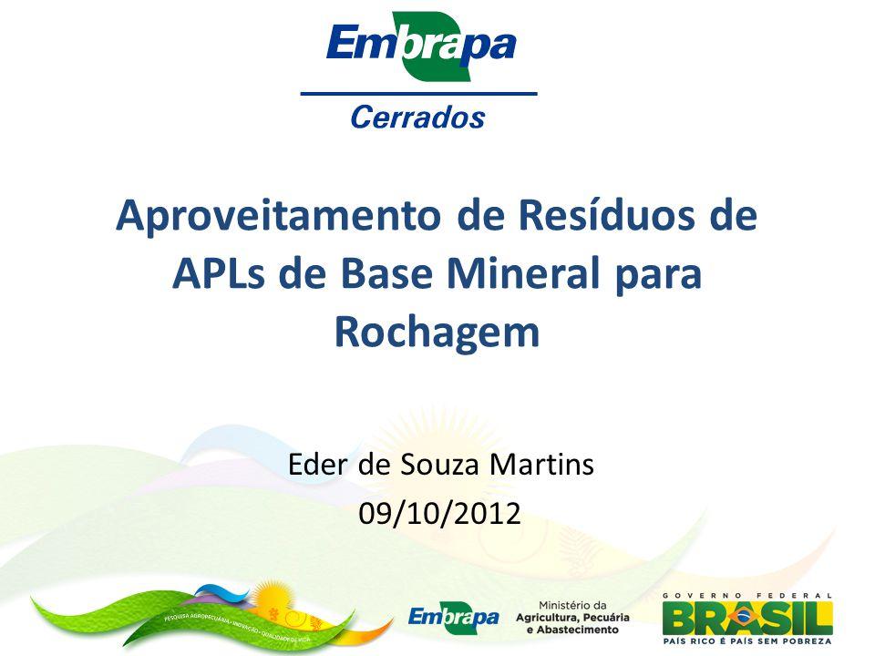 Aproveitamento de Resíduos de APLs de Base Mineral para Rochagem