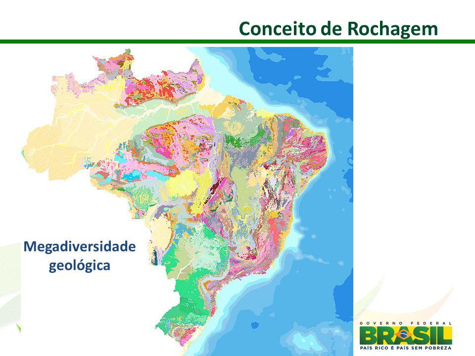 Conceito de Rochagem Megadiversidade geológica 25