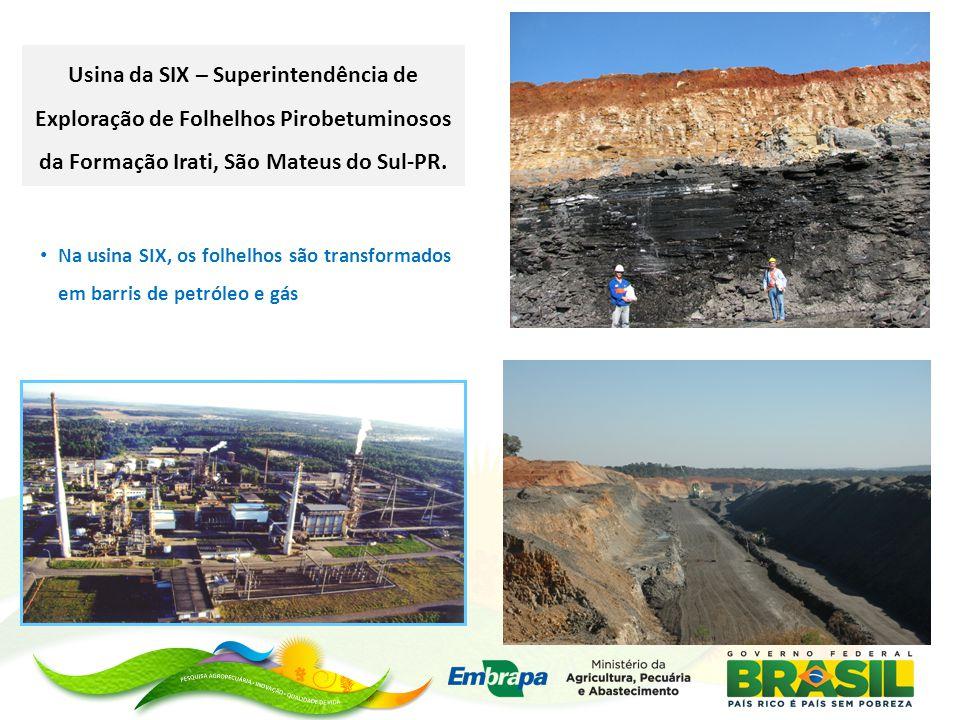 Usina da SIX – Superintendência de Exploração de Folhelhos Pirobetuminosos da Formação Irati, São Mateus do Sul-PR.