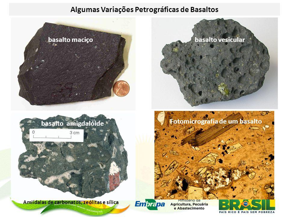 Algumas Variações Petrográficas de Basaltos