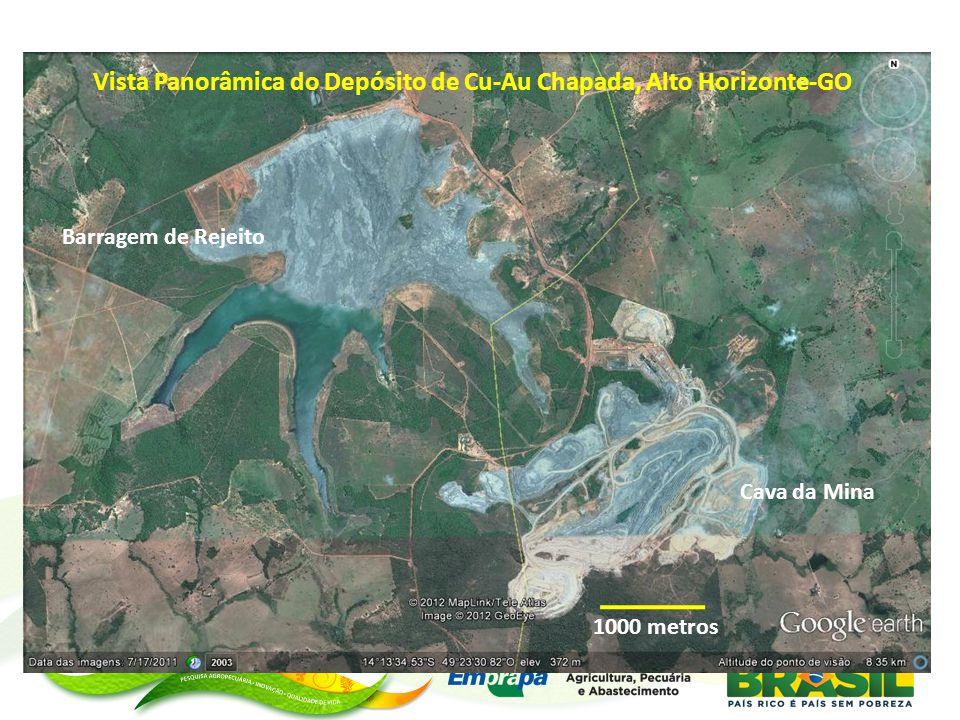 Vista Panorâmica do Depósito de Cu-Au Chapada, Alto Horizonte-GO
