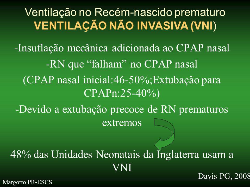 Ventilação no Recém-nascido prematuro VENTILAÇÃO NÃO INVASIVA (VNI)